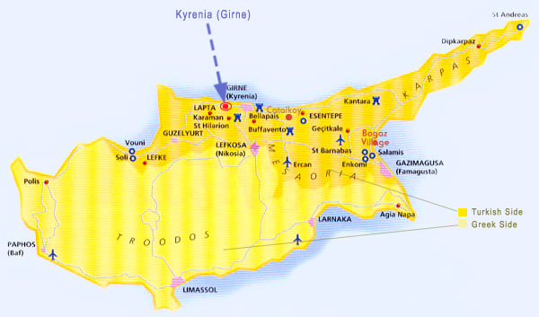 Turkey Map and Turkey Regions Property North Cyprus Place Overseas